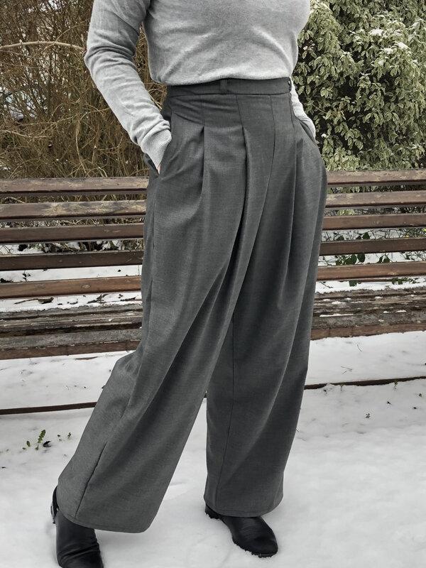 Pantalon Plume, Popeline et Linon