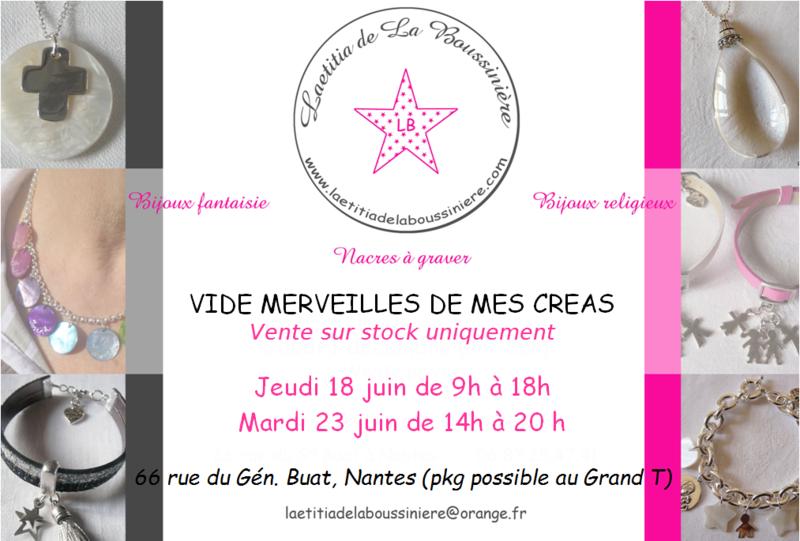 Vente Laetitia de La Boussinière - Bijoux à Nantes
