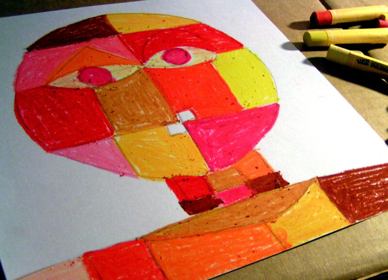 5-Chaud Froid-Portraits inspiration Paul Klee (79)