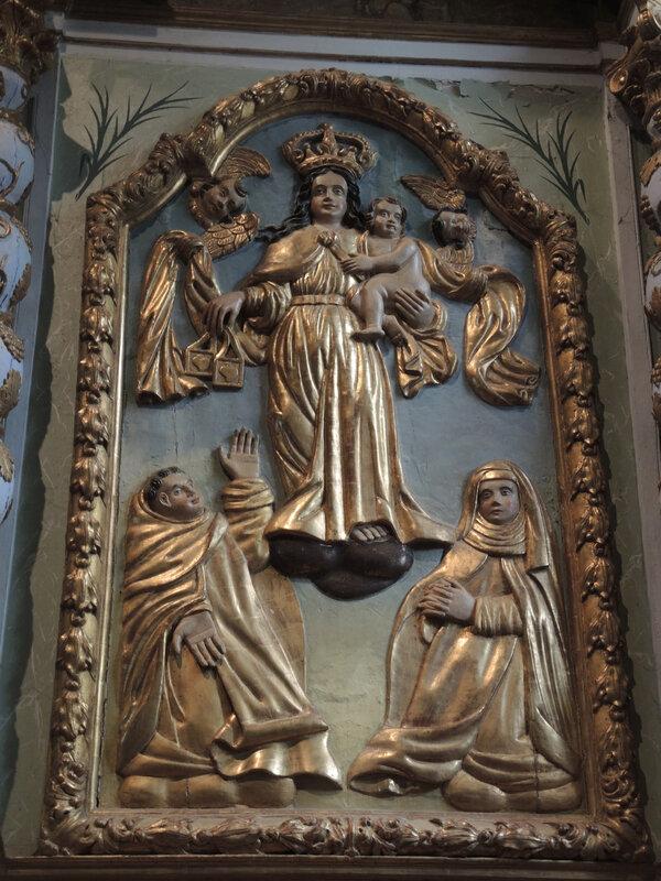 Irissarry, église Saint-Jean-Baptiste, retable, détail (64)