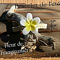 bracelet de l'été fleur de frangipanier 2