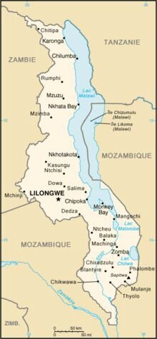 Carte Malawi