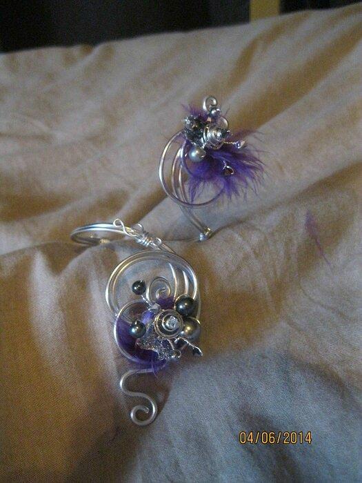 bracelet proposition pour Mélanie avec plumes
