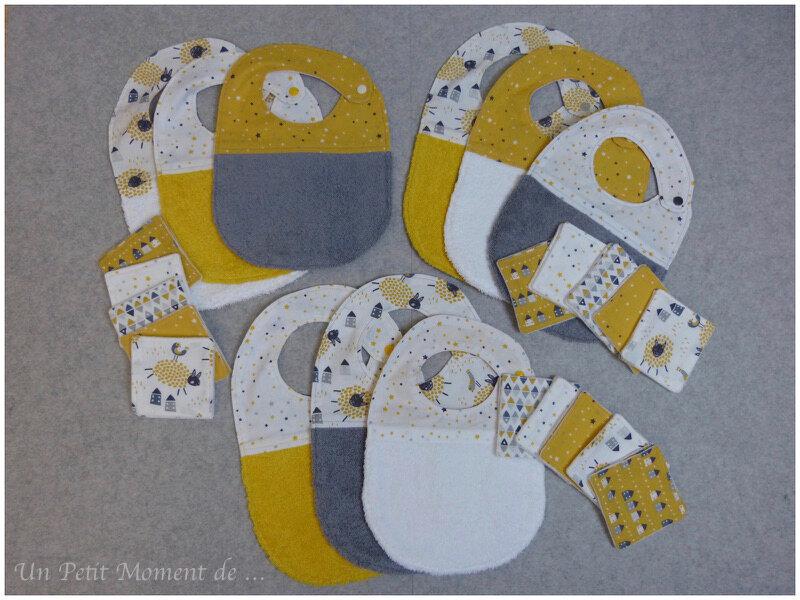 Ensembles jaune et gris 1 + 2 + 3