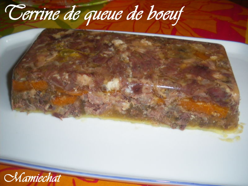 Terrine de queue de boeuf