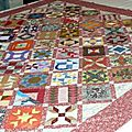 The farmer's wife sampler quilt - mise en sandwich