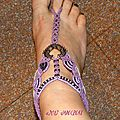 Bijoux de pied en micro-macramé - réf. P 0001