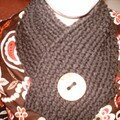 Écharpe au point de riz, laine Kadisha de Phildar