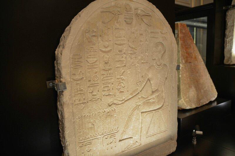 stèle funéraire au nom d'un grand prêtre 1295 av jc