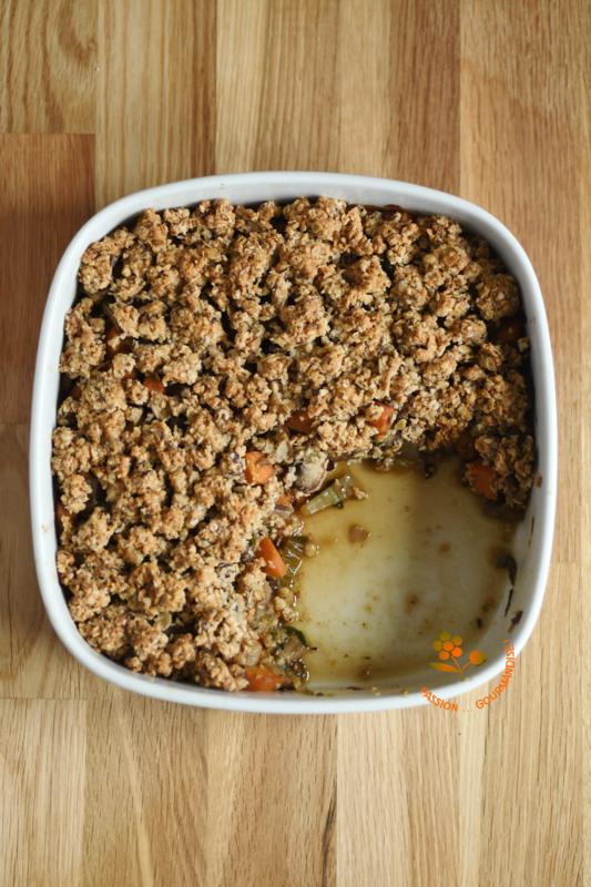 Gratin de légumes, streusel avoine-azuki-parmesan-sésame_4