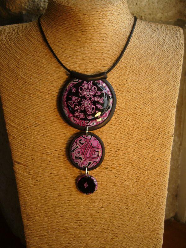 pendentif 3 pièces rose