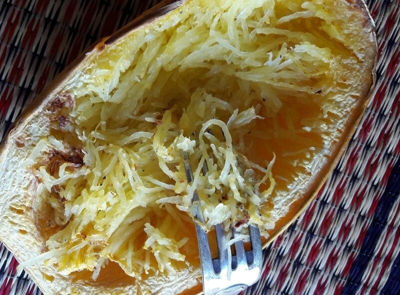 courge spaghetti-fondue poireaux champignons (4)