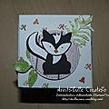 Carte cube pop up Foxy friends - face mouffette