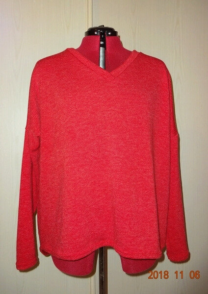 pull oversize rouge 1
