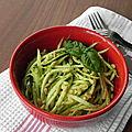 Spaghetti de courgettes au pesto, sans gluten et sans lactose