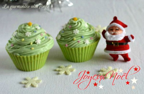 cupcakes chocolat cannelle noel sapin