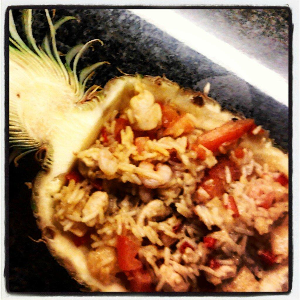 Riz à l'ananas, poulet et crevettes-Khao phad sapparod de Anne