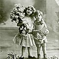 French antique card children at AppleApricot (2)