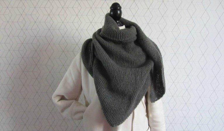 Trendy châle gris 2