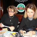 Dîner de Noël CréA'telier Ste Gemmes sur Loire 2009...c'est l'heure des comptes avec Nadine l'assistante technique