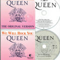 Queen we will rock you cd's France et Belgique