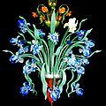 Lustre modèle iris en verre soufflé de murano