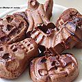 Halloween : gâteaux effrayants poire-chocolat.