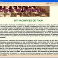 557 sacrifices de tour