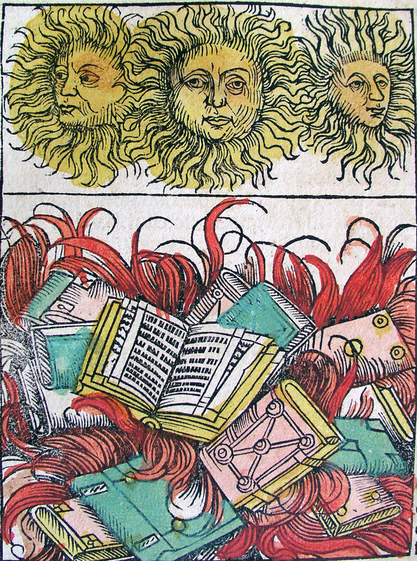 Nuremberg_chronicles_-_Suns_and_Book_Burning_(XCIIv)