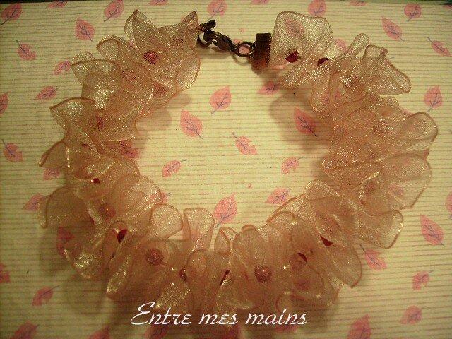 bracelet frou-frou rose