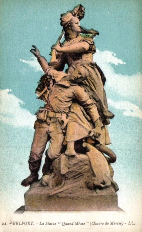 Belfort CPA Statue Quand-Même