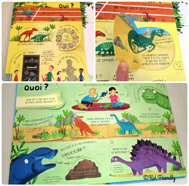 Les dinosaures - Usborne ©Kid Friendly