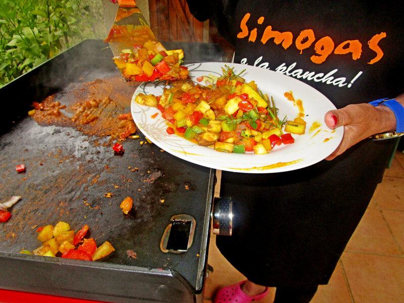 jambon curry plancha