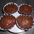 Moelleux aux chocolat et fraises tagada