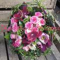Bouquet rond de mariée hortensias et jasmin