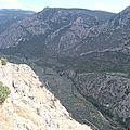 grèce delphes vallée en contre bas