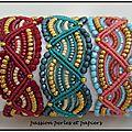 3 bracelets macramé ondine
