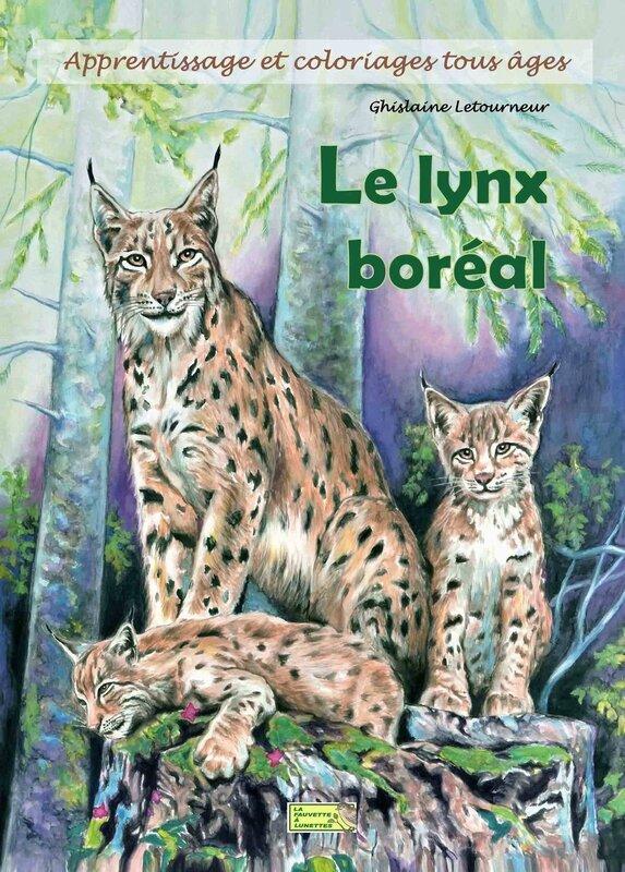 Couverture 1 Cahier lynx boréal Ghislaine Letourneur