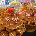 Gâteau d'anniversaire en nougatine et photo