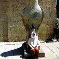 Le Temple de Horus à Edfou, le dieu faucon