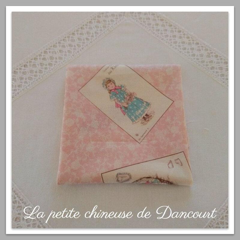 Coupon de tissus Yuwa étiquettes femmes 1900 la petite chineuse de Dancourt