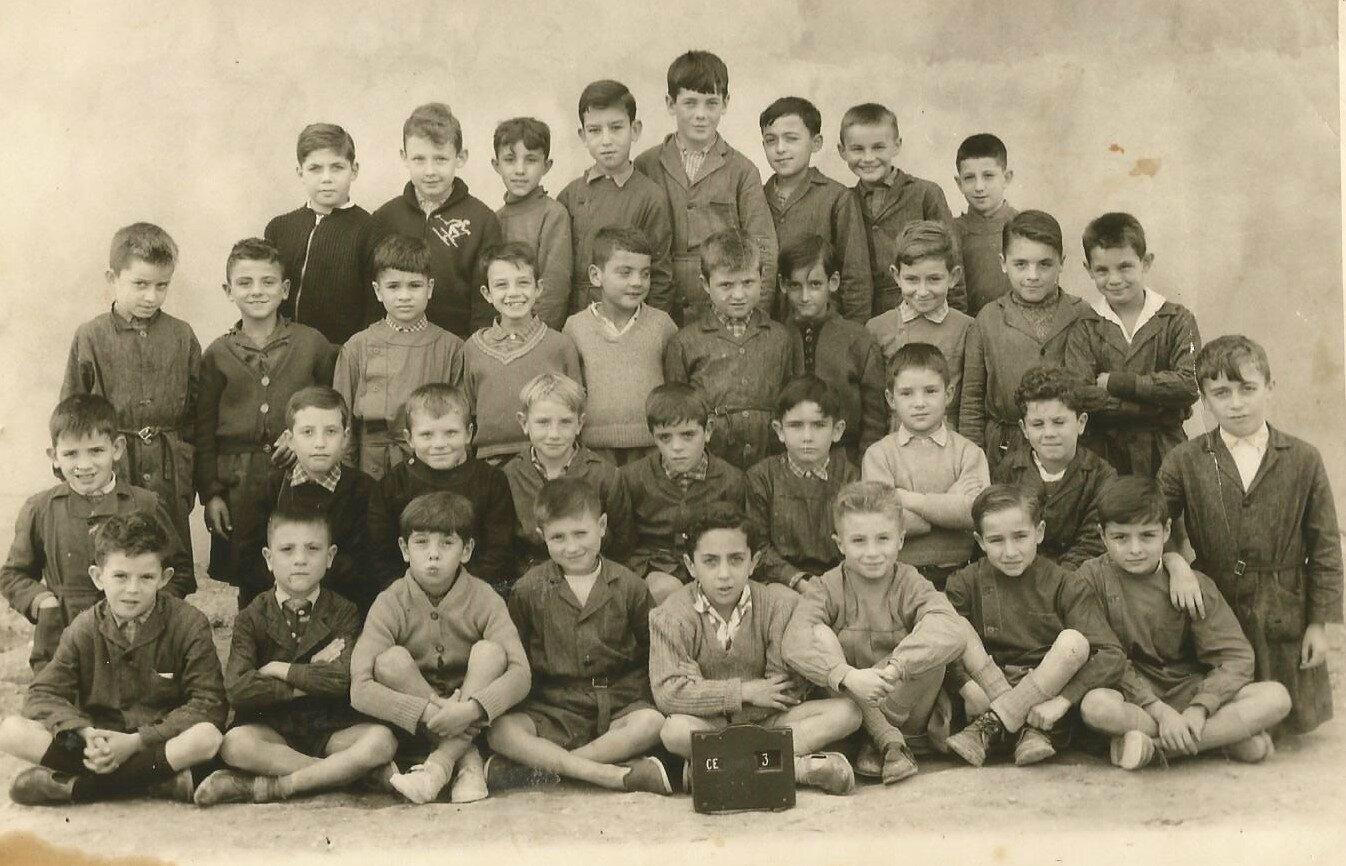 école Jean Jaurès, cours élémentaire année 1958, 59 ou 60.