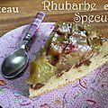 Gâteau renversé rhubarbe et speculoos