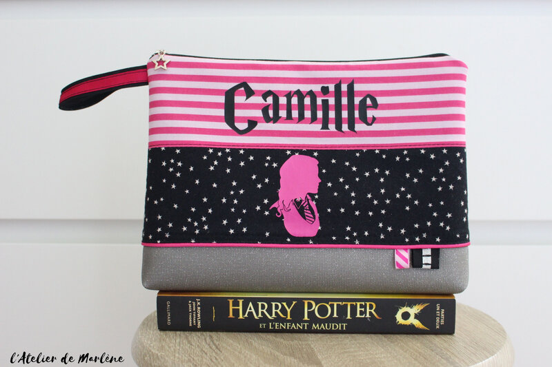 trousse de toilette Camille Harry Potter noir et rose