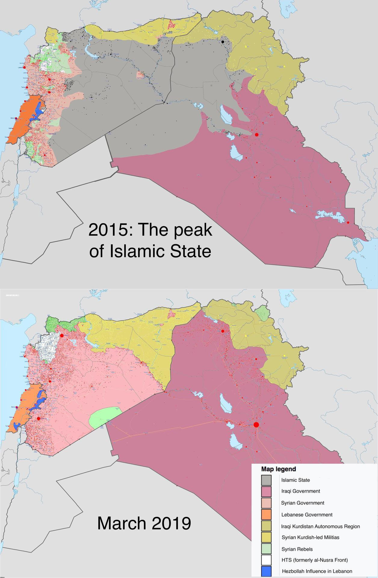 Islamic State, from peak to defeat