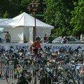 CD Obernai:arrivée parc à vélo