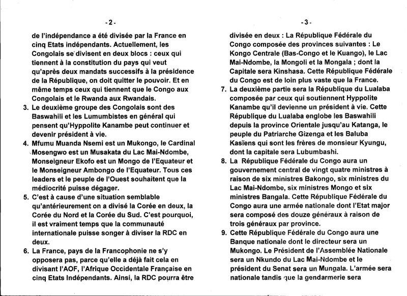LA BIPARTITION DE LA RDC EN DEUX b