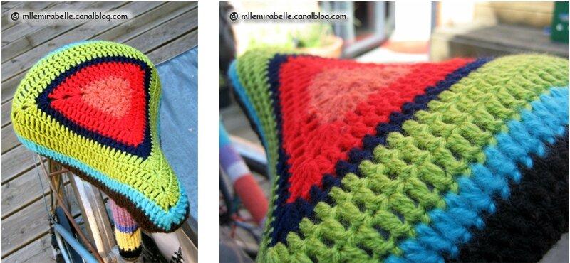 selle velo yarn bombing