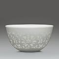 A glazed wine cup with cut-out decoration, yuyan shuwu four-character hallmark,yongzheng-qianlong period (1723-1795)