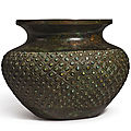 An inlaid archaistic bronze vessel, pou, ming dynasty (1368-1644)